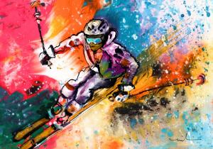 New Ski Painting - Skiing 09